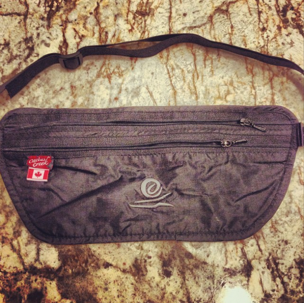A money belt.