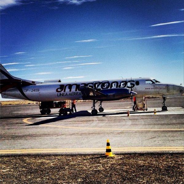 The Amazonas plane.