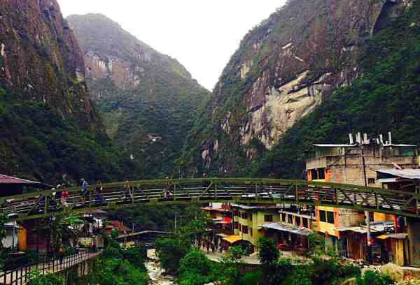 The town of Aguas Calientes.