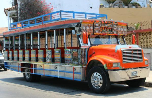 Chivas are used as a tour bus during the day, and a party bus at night.