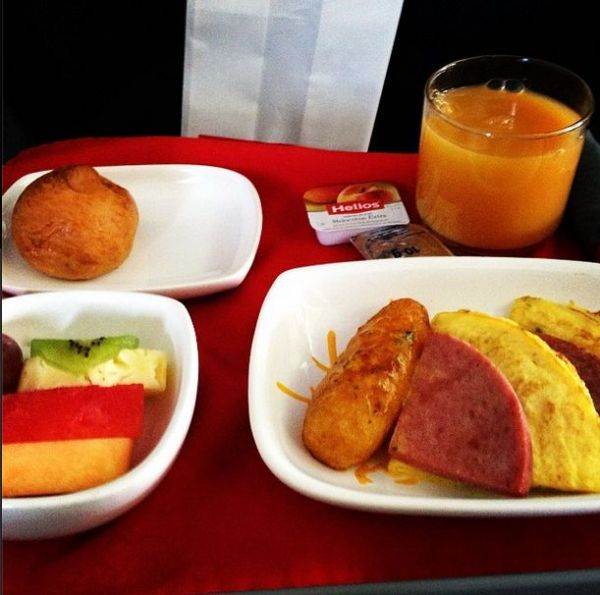 Breakfast on Avianca.
