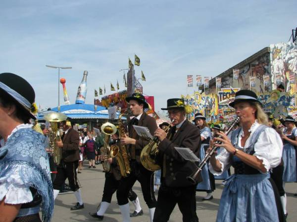 The Oktoberfest Parade. Courtesy of Tessa Elliott.